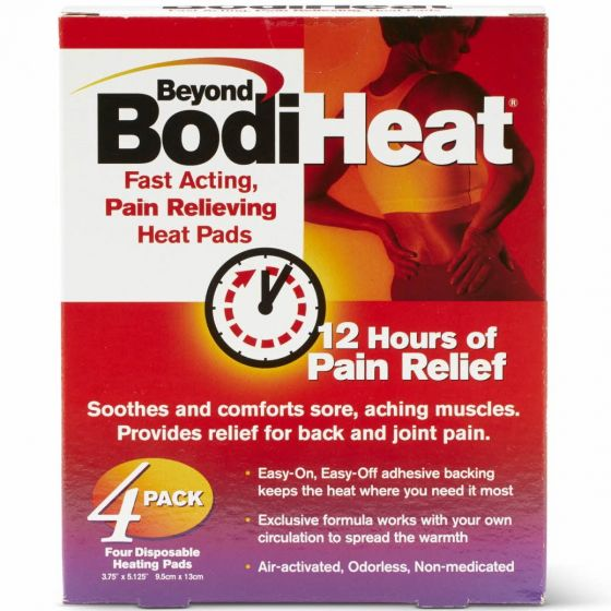 Beyond BodiHeat 12-Hour Pain Relief Heat Pads 4Ct OTC749845 by Medline