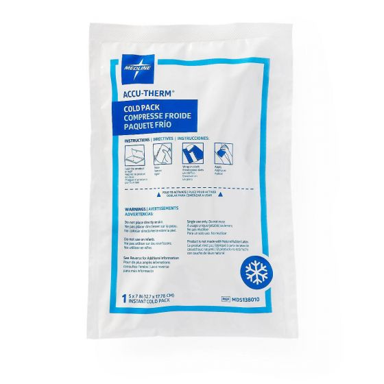 Accu-Therm Heavyweight Jr. Instant Cold Pack 4x6 16Ct MDS138010 by Medline