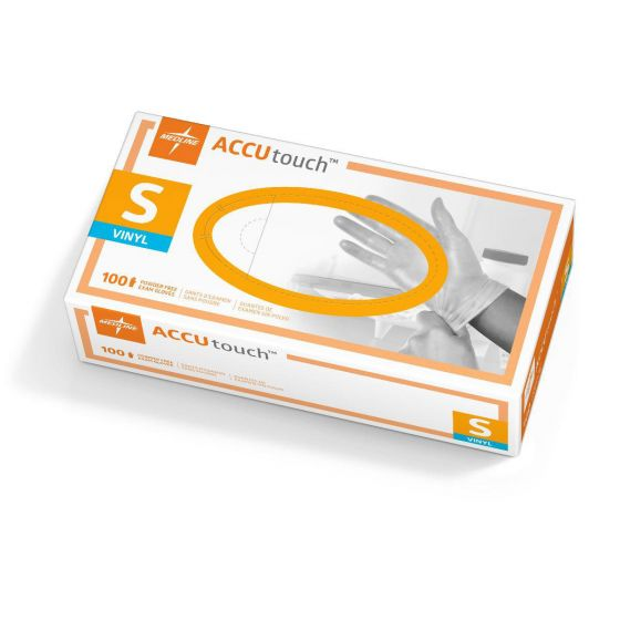 Accutouch Synthetic Exam Gloves, Size S MDS192074 by Medline