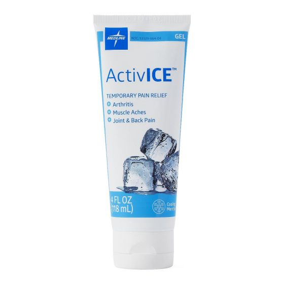Medline ActivICE Topical Pain Reliever 4oz Gel 24Ct MDSAICEGEL by Medline