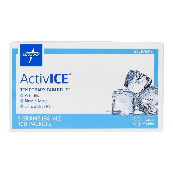 Medline ActivICE Topical Pain Reliever 5g Gel Pkt 100Ct MDSAICEPK by Medline
