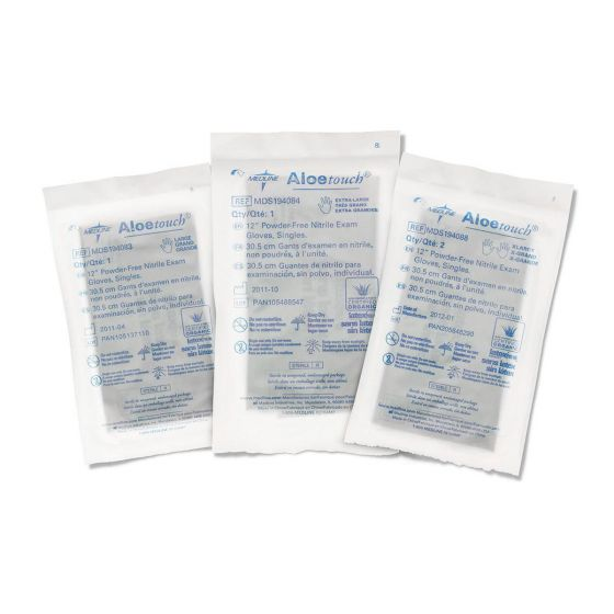 Aloetouch 12in Single/Pr Nitrile Exam Gloves - Shop All PF00367 by Medline