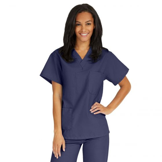 AngelStat Unisex Reversible V-Neck Scrub Top - Shop All PF02586 by Medline