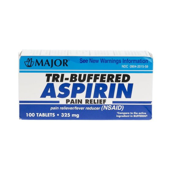 Major Tri-Buffered Aspirin Tablets - Shop All PF11149 by Major Pharmaceutical