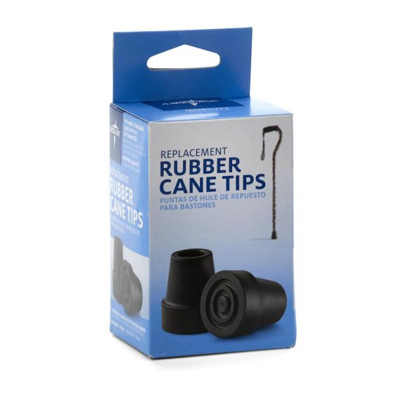 Medline Replacement Tips for 3/4in Standard Cane 4Ct MDS86426W4 by Medline