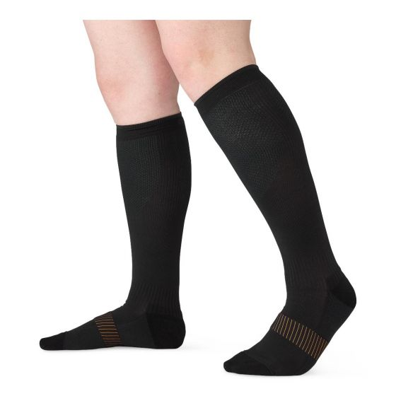 Copper Fit Compression Socks, Size S/M CF2CPSK1BLSM by Cooper Fit