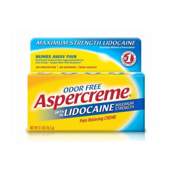 Odor-Free Aspercreme with 4% Lidocaine Pain Relieving Cream OTC005820 by Chattem Inc
