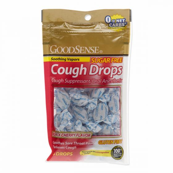 GoodSense Sugar-Free Black Cherry Cough Drops 25Ct OTC54225 by Geiss, Destin & Dunn