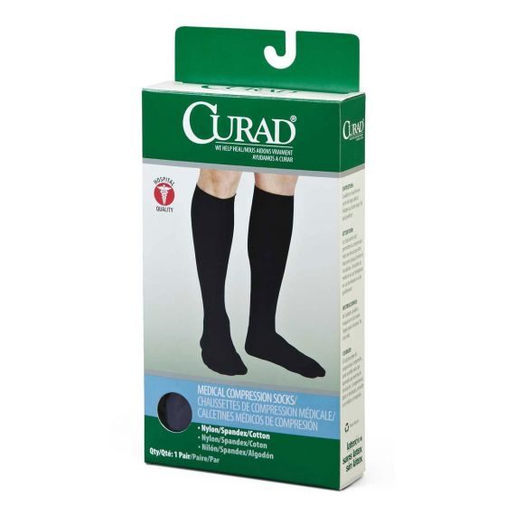 CURAD Knee-High Compression Dress Socks - Shop All PF70933 by Medline
