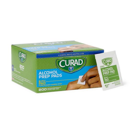 CURAD Alcohol Prep Pads 4000Ct CUR45581RBI by Medline