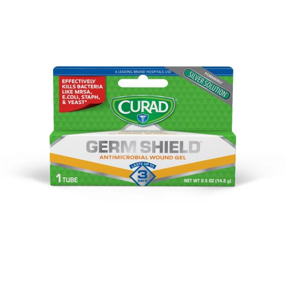 CURAD Germ Shield Antimicrobial Wound Gel 0.5oz 12 Ct CUR45951GS by Medline