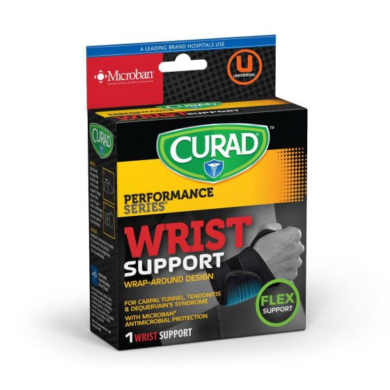CURAD Performance Wraparound Wrist Support with Microban