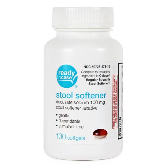 Docusate Sodium Stool Softener Softgel 100mg 100Ct OTC40101 by Medline