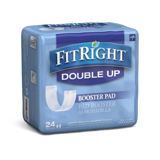 Medline FitRight Double Up Thin Incontinence Booster Pads  PF01394 by FitRight