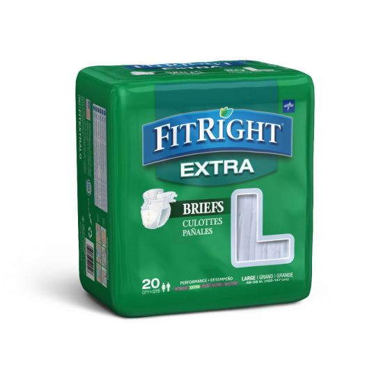 Medline FitRight Extra Incontinence Briefs