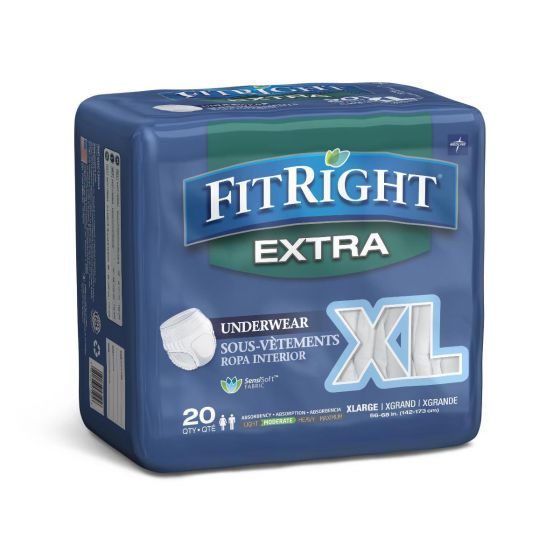 Medline FitRight Extra Adult Incontinence Underwear MSC13600A by Medline