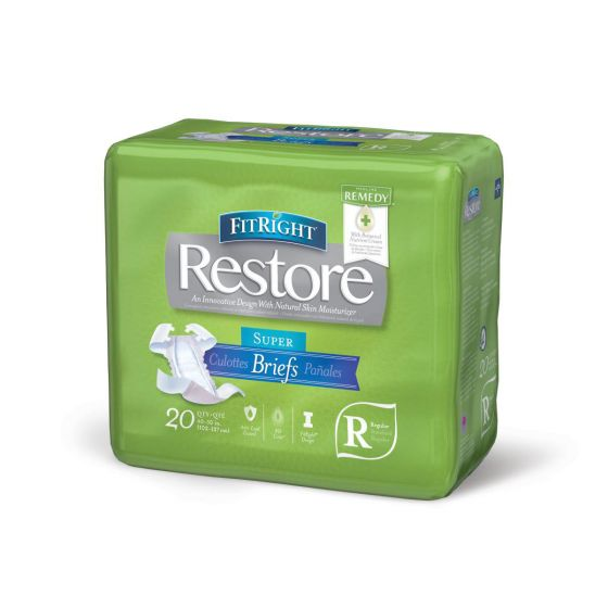 FitRight Restore Super Disp Brief w Remedy Reg 80Ct FITRESTORERG by Medline