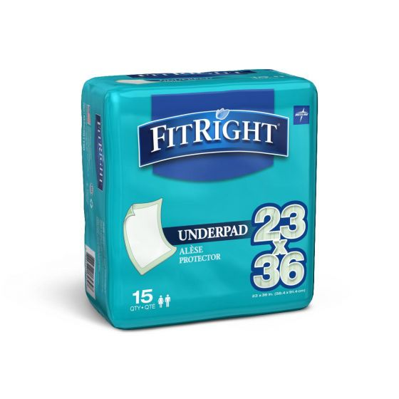 Medline FitRight Underpads PF180267 by Medline