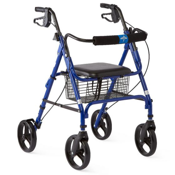 "Folding Rollator with 8"" Wheels MDS86825 by Medline"