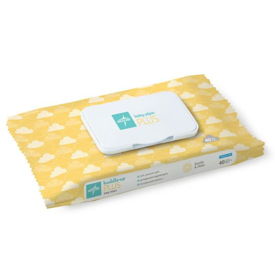 Medline Unscented Baby Wipes Plus 40Ct MSC263040H by Medline