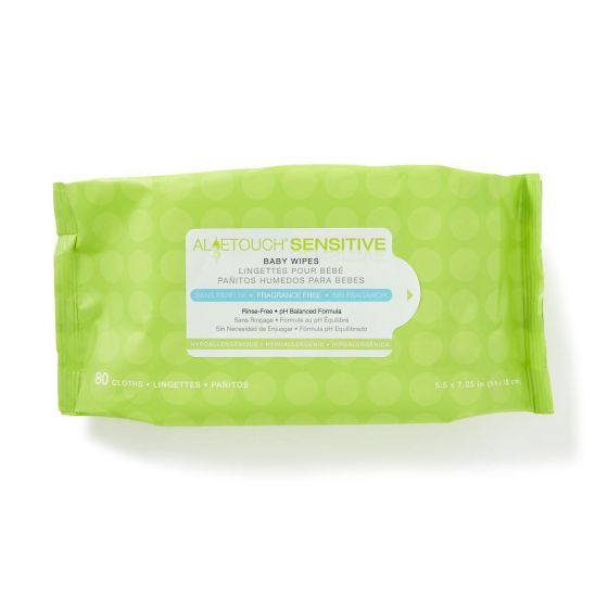 Medline Aloetouch Sensitive Unscented Baby Wipes 80Ct MSC263153H by Medline