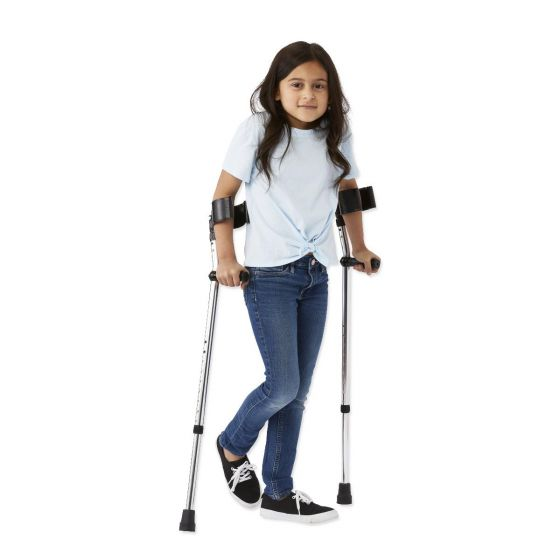 Guardian Aluminum Forearm Crutches Youth 1 Pair G05162Y by Medline