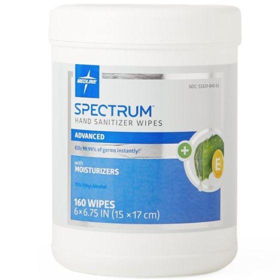 Medline Spectrum Adv Hand Sanitizer Wipe 6x6.75 160Ct HH70W160H by Medline