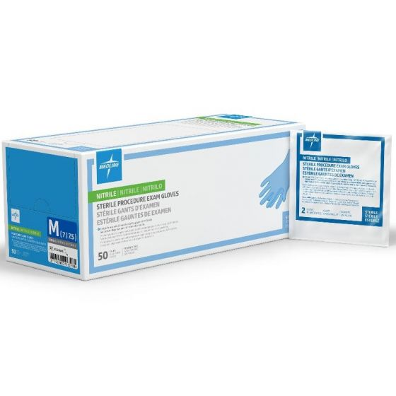 SensiCare Sterile Extended Cuff Powder-Free Nitrile Exam Gloves PF149184 by SensiCare