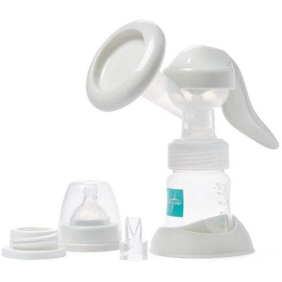 Medline Manual Breast Pump Kit with Bottle MDS67186 by Medline