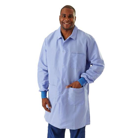 Men's ResiStat Lab Coat with Pockets, Size M MDT046811M by Medline