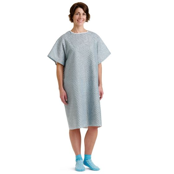 Traditional Patient Gowns MDTPG2RSBSTAZ by Medline