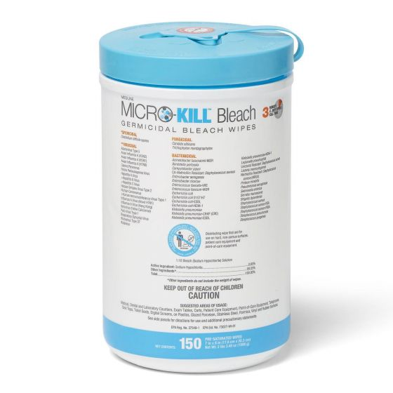 Micro-Kill Bleach Germicidal Bleach Wipes - Shop All PF50089 by Micro-Kill
