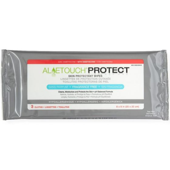 Aloetouch PROTECT Dimethicone Skin Protectant Wipe 3Ct MSC095223H by