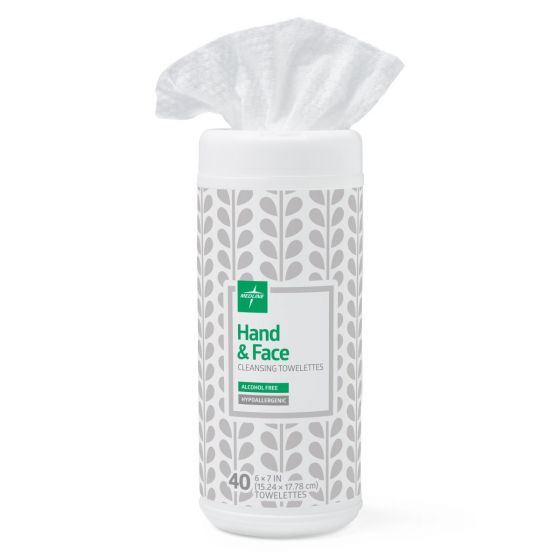 Hand and Face Cleansing Towelettes 40 Count MSC263640H by Medline