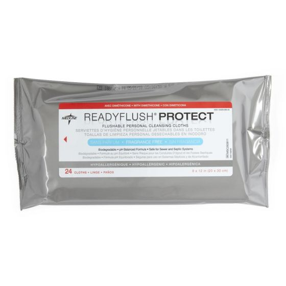 ReadyFlush PROTECT Unscented Biodegradable Flushable Wipes - Shop All PF66415 by Medline