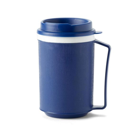 Medline Mug with Easy-Grasp Handle and Lid 12oz 1 Count MDSR000862 by Medline
