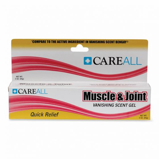 CareAll Muscle Joint Vanishing Scent Gel Menthol 3oz 1Ct OTC04286 by Medline