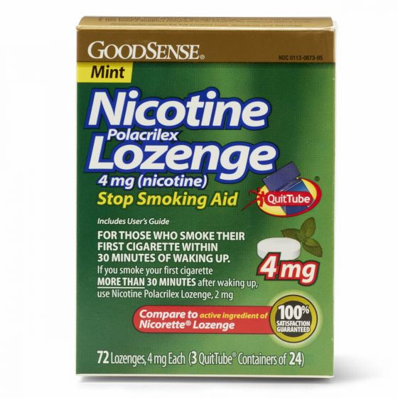 GoodSense Nicotine Polacrilex Lozenges 4mg 72Ct OTC087305 by Medline