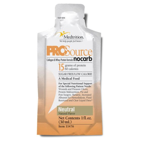 ProSource No Carb Sugar-Free Liquid Protein Nutritional Supplement, 1oz NNI11476 by Medtrition, Inc.