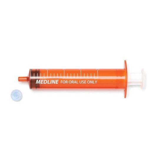 Medline Nonsterile Amber Oral Syringe 20mL 200Ct NON65220 by Medline