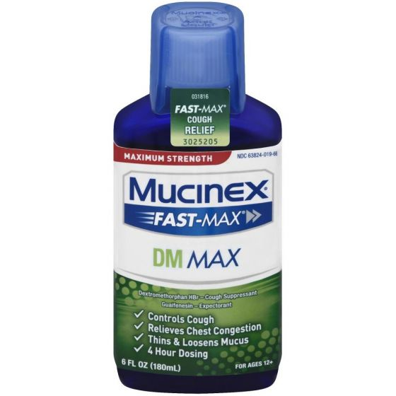 Mucinex Fast-Max DM Cold & Cough Relief Syrup OTC018669 by Reckitt Benckiser Inc