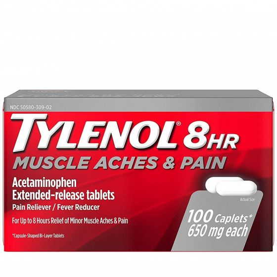 Tylenol Extended Release Pain Relief Acetaminophen 650mg