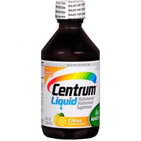 Centrum Multivitamin Multimineral Liquid Supplement 8oz OTC434462 by Centrum