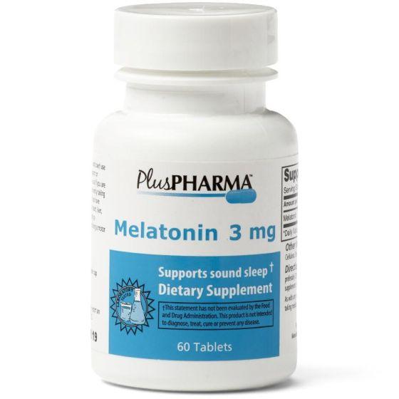 PlusPharma Melatonin Sleep Aid 3mg 60Ct OTC788069 by PlusPharma