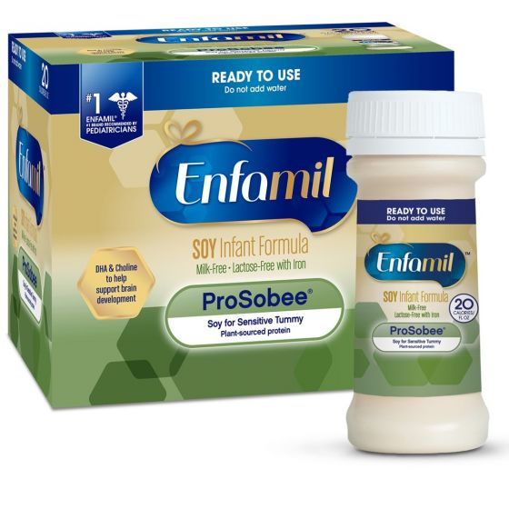 Enfamil ProSobee Lipil 20 Cal Ready to Feed Infant Formula 2oz - Shop All PF10744 by Mead Johnson Nutritional Group