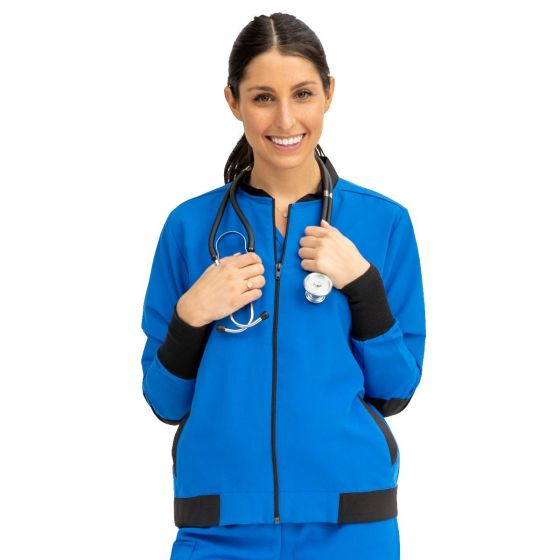 Women's Bomber Jacket with Welt Pocket and Zipper - Shop All PF174028 by Medline