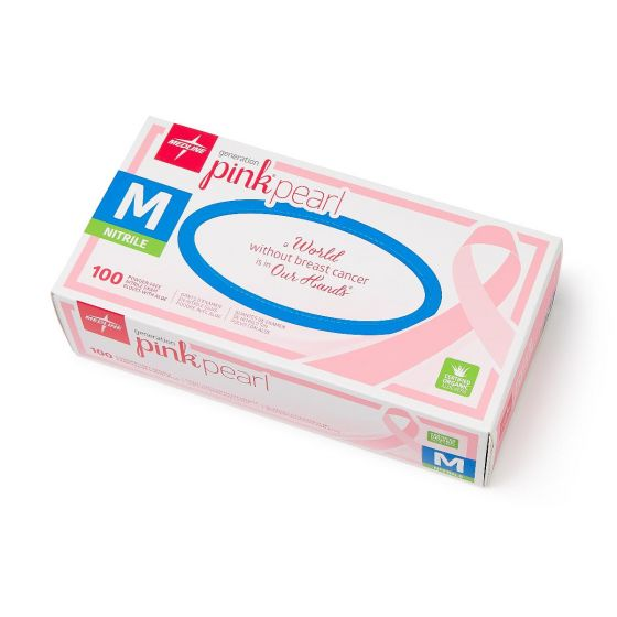 Generation Pink Pearl Nitrile Exam Gloves, Size M PINK5085H by Generation Pink Pearl