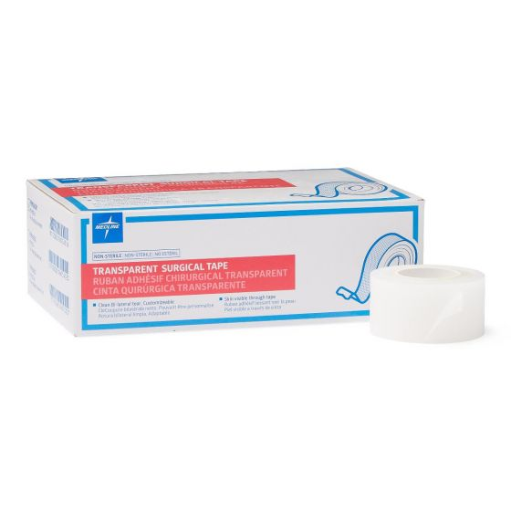 Medline Transparent Adhesive Surgical Tape - Shop All PF00290 by Medline