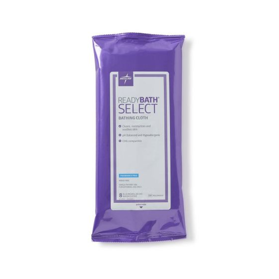 ReadyBath SELECT Fragrance-Free Cleansing Washcloths, 8 Count MSC095107 by Medline