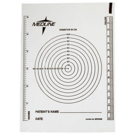 Bullseye Plastic Wound Ruler MSC1234H by Medline